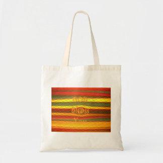 Merry Christmas God Bless You Colors Design Tote Bag