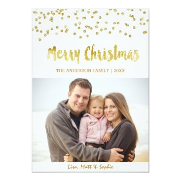 Christmas Themed Merry Christmas gold glitter Christmas Card
