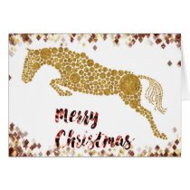 Merry Christmas Gold Jumper Greeting Card