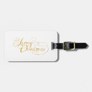 Merry Christmas (GOLD) Luggage Tag