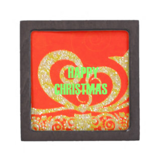 Merry Christmas Golden Red Snowflex.jpg Jewelry Box