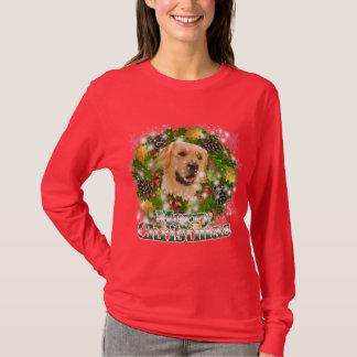 Merry Christmas Golden Retriever T-Shirt