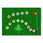 Merry Christmas Golf Christmas Card