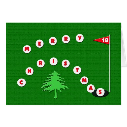 merry christmas golf picture merry christmas golf christmas card zazzle