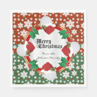 Merry Christmas Golf Lovers Napkin