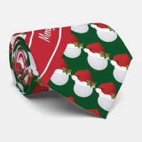 Merry Christmas Golf Tie