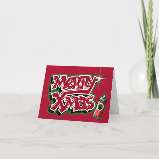 Christmas Graffiti Letters.Merry Christmas Graffiti Card