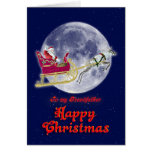 Merry Christmas grandfather, santa in his sleigh Greeting Card