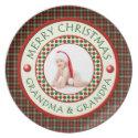 Merry Christmas Grandma and Grandpa Photo plate