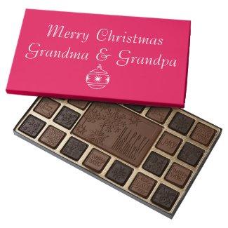 Merry Christmas Grandma and Grandpa 45 Piece Assorted Chocolate Box