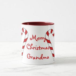 Merry Christmas Grandma Candy Cane Mug by Janz