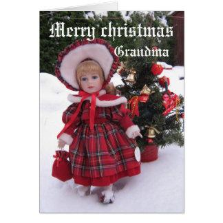 Merry christmas, Grandma Card