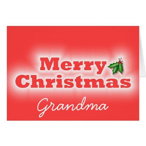 Merry Christmas Grandma Greeting Card | Zazzle
