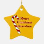Merry Christmas Grandma Gold Star Ornament by Janz