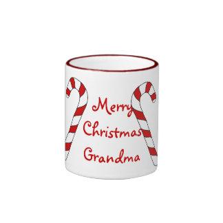Merry Christmas Grandma Ringer Mug