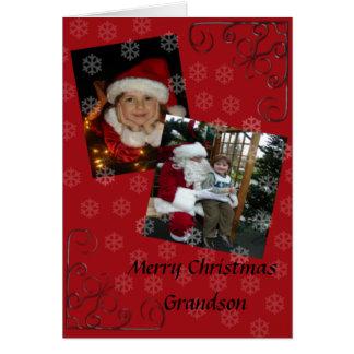 Merry Christmas grandson Card