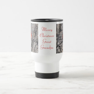 Merry Christmas Great Grandpa Travel Mug