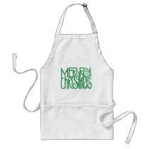 Merry Christmas green Apron