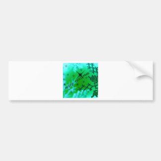 Merry Christmas, green Car Bumper Sticker