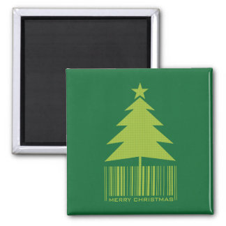 Merry Christmas - Green Christmas Tree Magnet