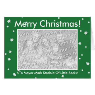 MERRY CHRISTMAS! Green Customizable My Dog Votes Greeting Card