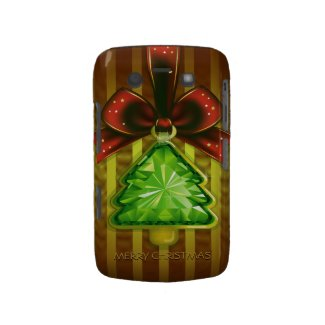 Merry Christmas Green Diamond Tree Blackberry Bold Blackberry Bold Cover