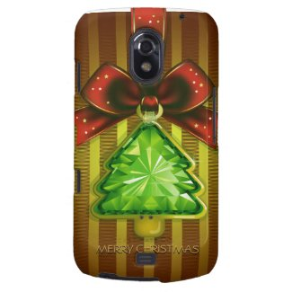 Merry Christmas Green Diamond Tree Samsung Nexus Samsung Galaxy Nexus Cases