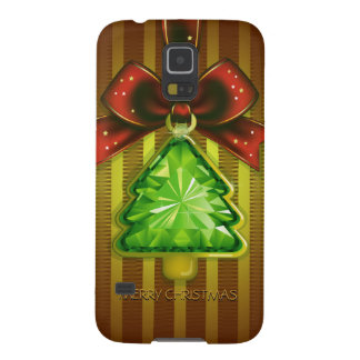 Merry Christmas Green Diamond Tree Samsung S5 Cases For Galaxy S5