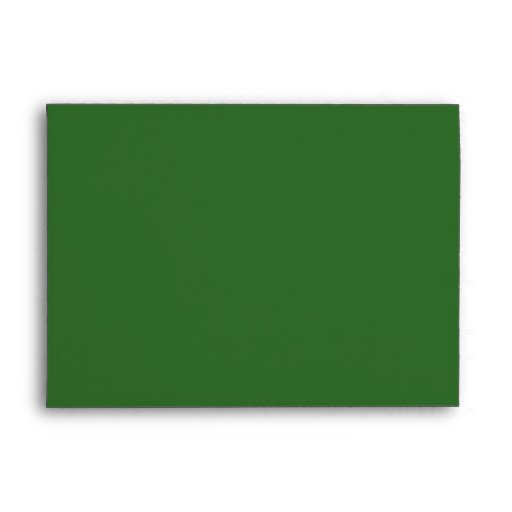 Merry Christmas! Green Envelope Matches Card