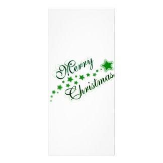 MERRY CHRISTMAS GREEN FULL COLOR RACK CARD