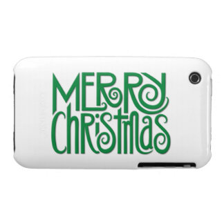 Merry Christmas green iPhone 3G 3GS Case iPhone 3 Case