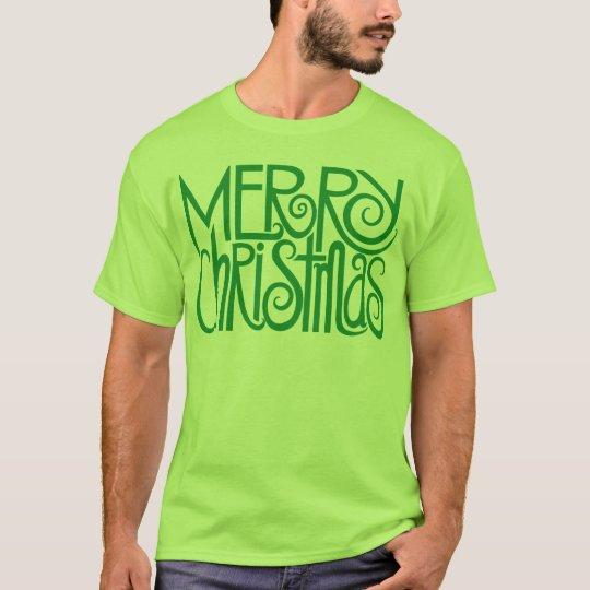 Merry Christmas Green Mens T-shirt