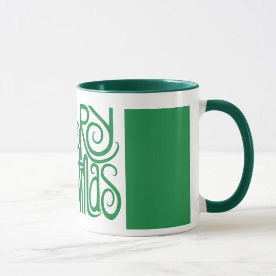 Merry Christmas green Mug