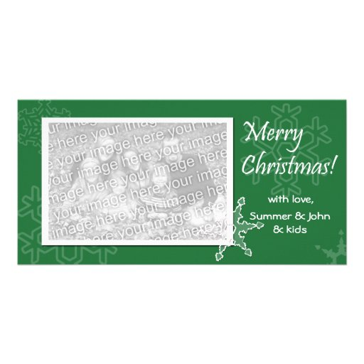 Merry Christmas! Green Photo Card