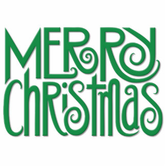 Merry Christmas green Photo Sculpture