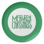 Merry Christmas green Plate