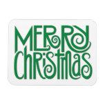 Merry Christmas green Premium Magnet
