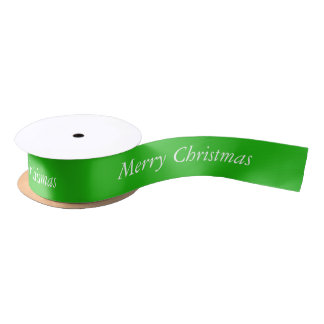 Merry Christmas Green Ribbon