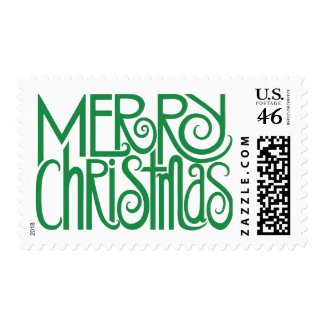 Merry Christmas Green Stamp stamp