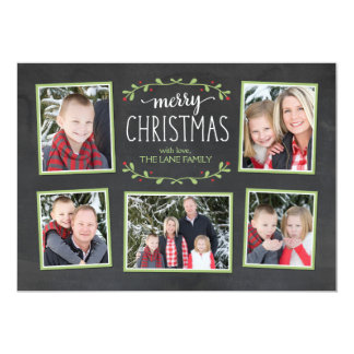 Merry Christmas Greenery Photo Card