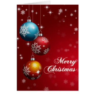 Merry Christmas Greeting Card - Customizable