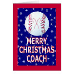 Merry Christmas Greeting Cards for Coaches