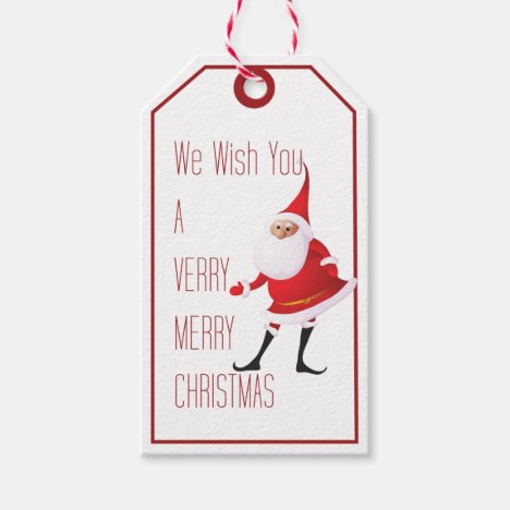 Merry Christmas Greeting Santa Package Tag