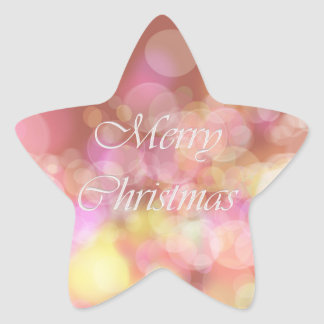 Merry Christmas. Greeting. Star Sticker