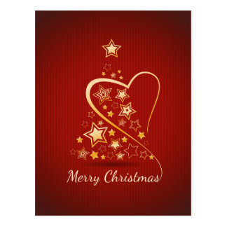 Merry Christmas greeting with golden ornaments Postcard
