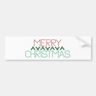 Merry Christmas Greetings Bumper Sticker