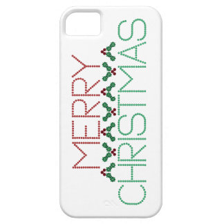 Merry Christmas Greetings iPhone SE/5/5s Case