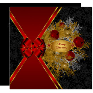 Merry Christmas Greetings with Sleigh Bells Card