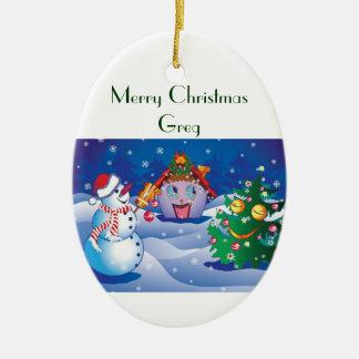 Merry Christmas Greg Ornament