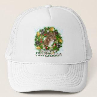 Merry Christmas Greyhound Trucker Hat
